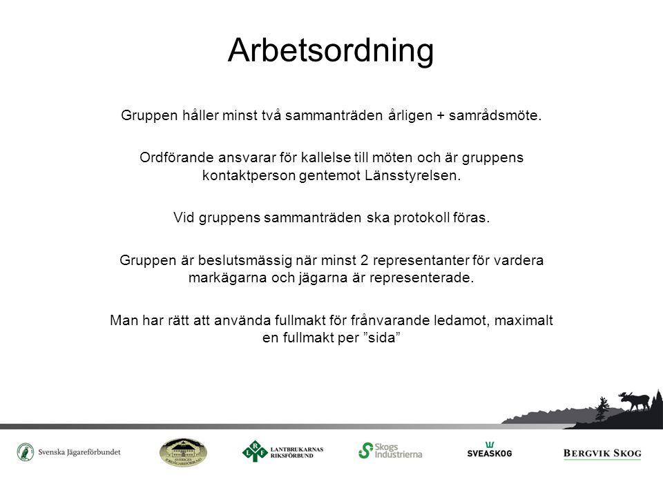 Samråd och kommunikation Gruppen ska hålla årligt samråd med företrädare för älgskötselområden samt med berörda myndigheter.