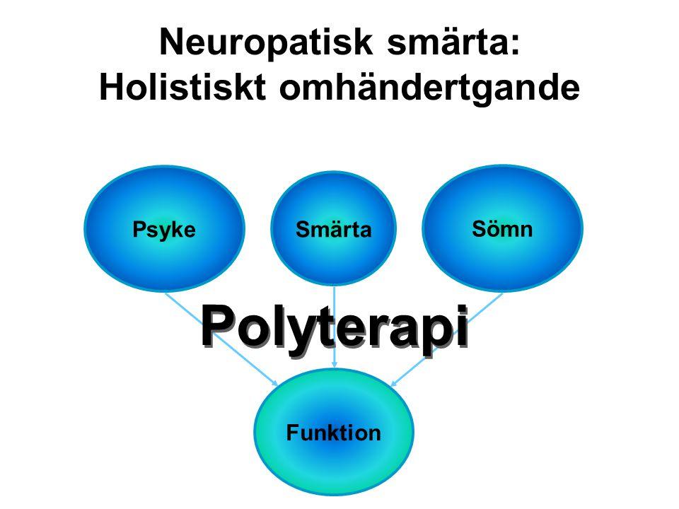 Psyke Smärta Sömn Funktion Polyterapi Neuropatisk smärta: Holistiskt omhändertgande