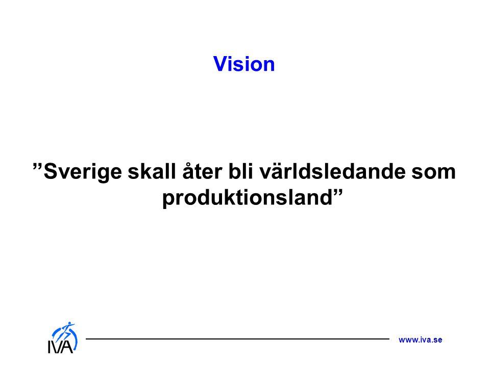 "www.iva.se Vision ""Sverige skall åter bli världsledande som produktionsland"""