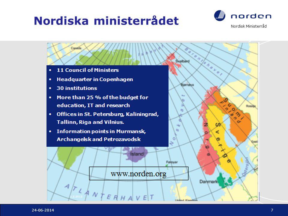 Nordisk Ministerråd Nordiska ministerrådet 24-06-20147