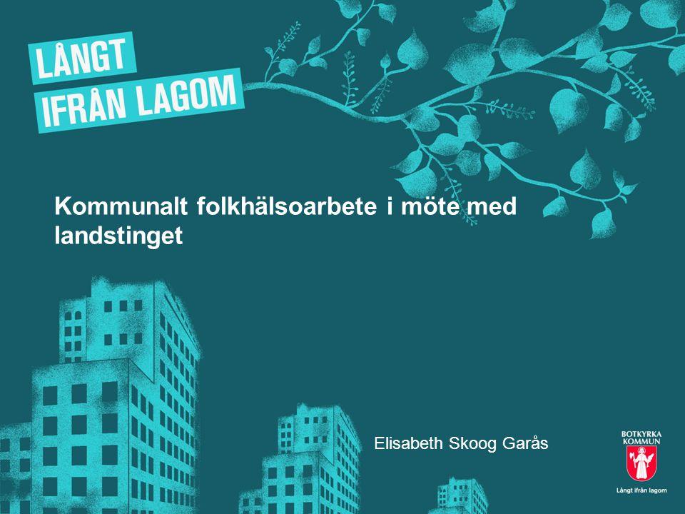 Kommunalt folkhälsoarbete i möte med landstinget Elisabeth Skoog Garås
