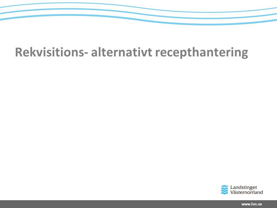 www.lvn.se Rekvisitions- alternativt recepthantering
