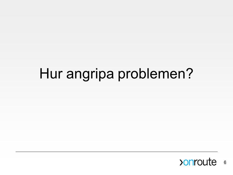 Hur angripa problemen? 6