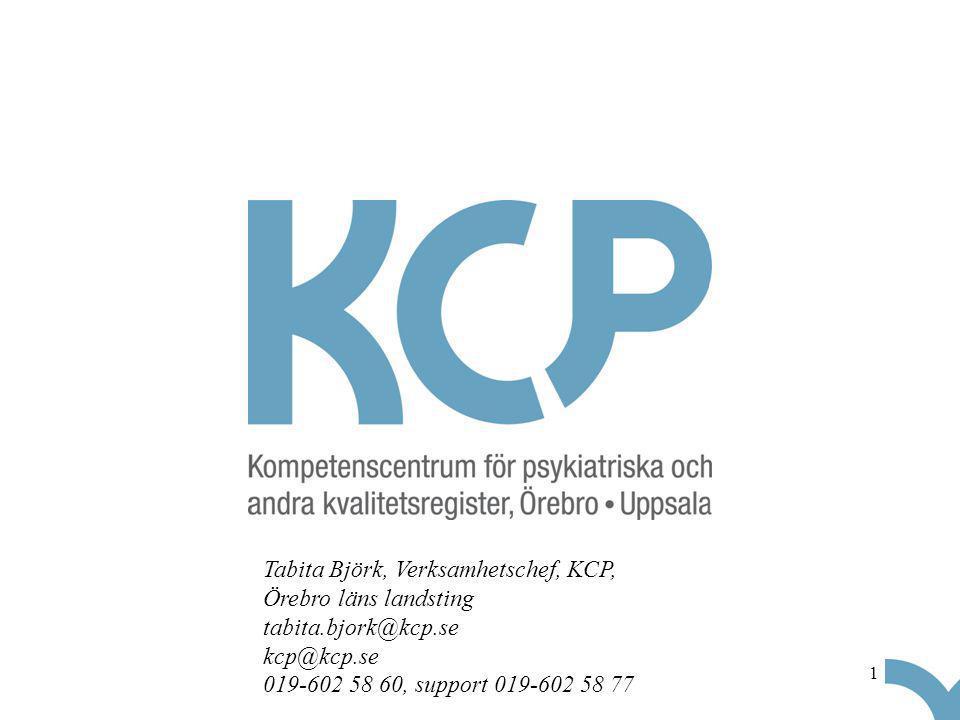 1 Tabita Björk, Verksamhetschef, KCP, Örebro läns landsting tabita.bjork@kcp.se kcp@kcp.se 019-602 58 60, support 019-602 58 77