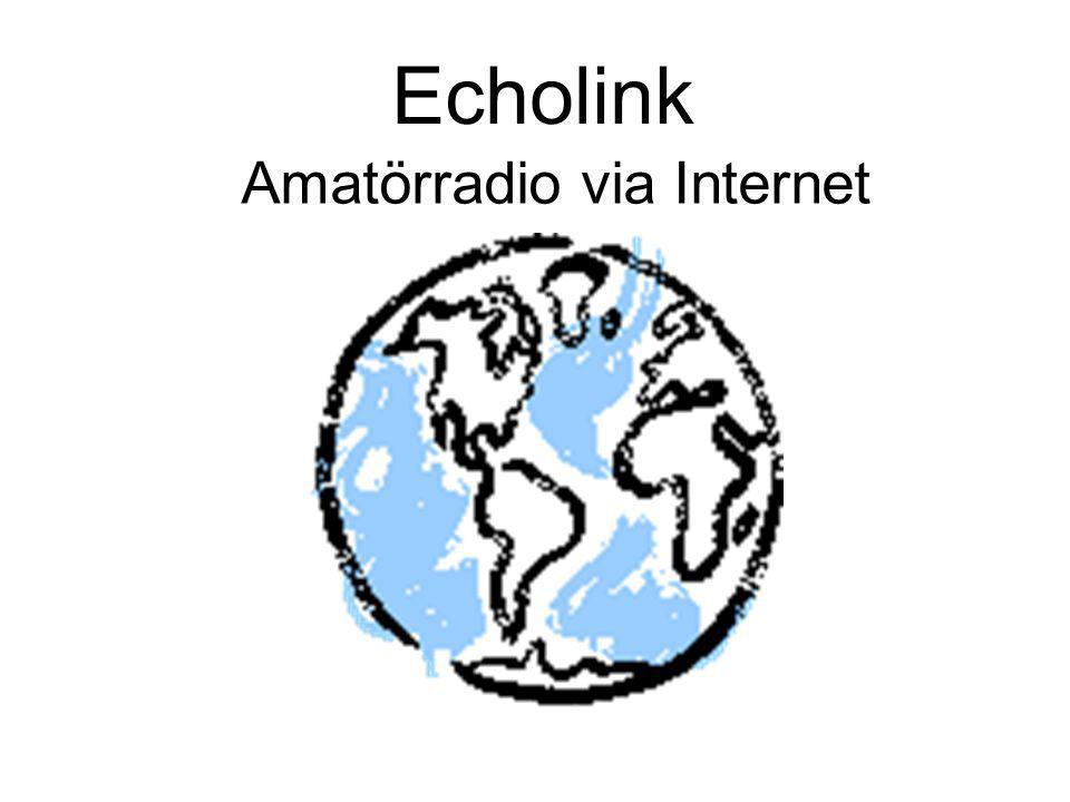Echolink Amatörradio via Internet