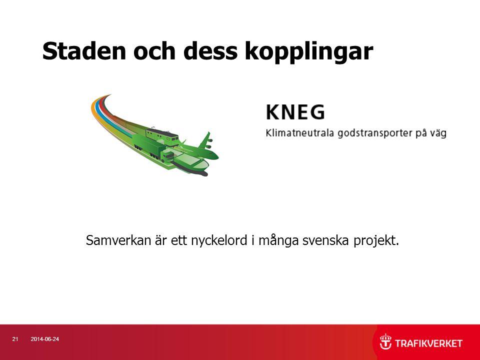 212014-06-24 Staden och dess kopplingar Samverkan är ett nyckelord i många svenska projekt.