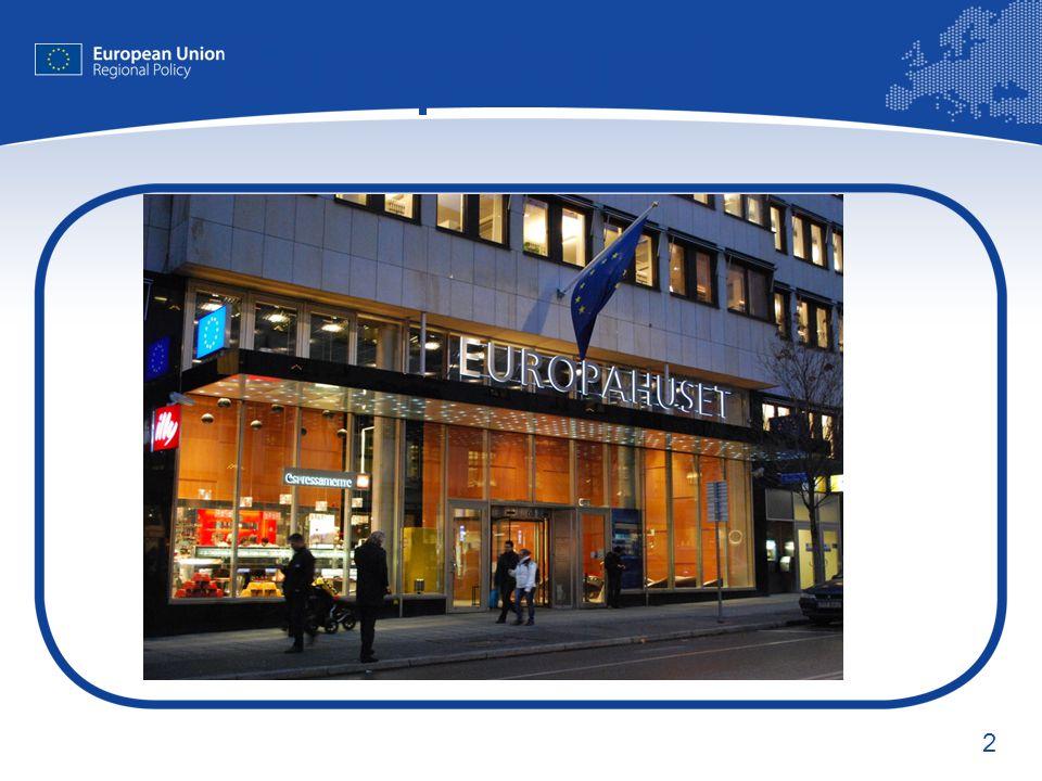 3 Europa-Direkt  18 ED kontor i Sverige  Svarar på allmänhetens frågor om EU  Sprider information om EU:s politikområden, anpassad för lokala och regionala behov  Främjar den lokala och regionala debatten om EU-frågor  Ger möjlighet till boende i närområdet att tycka till om EU:s politik www.ec.europa.eu/europedirect