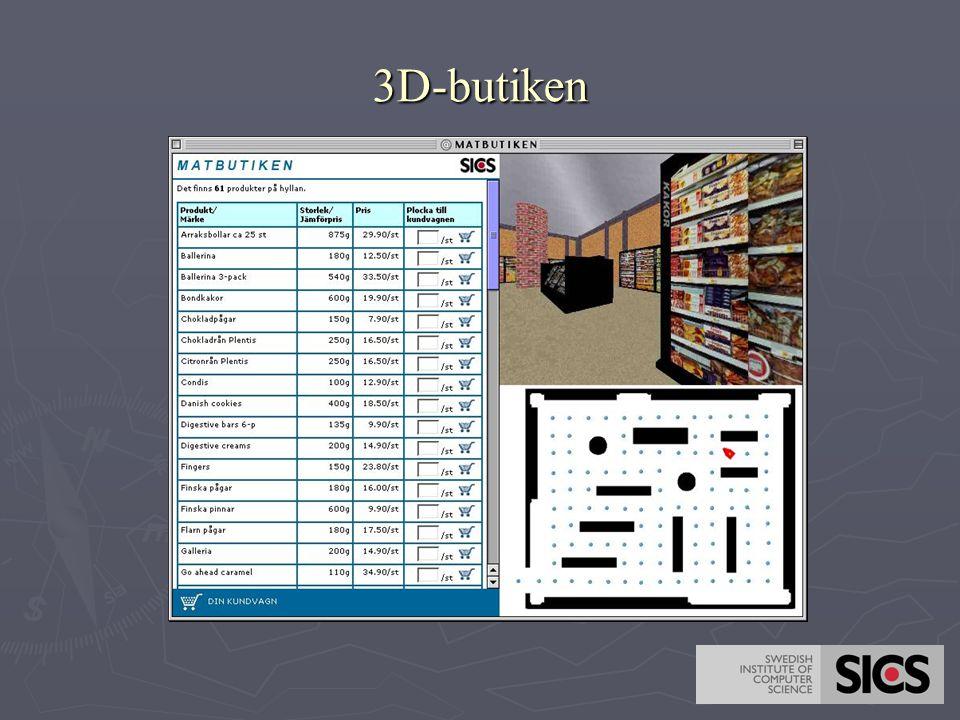3D studie  Frågeställningar   Hur ser åldersskillnaderna ut i en 3D-miljö (större eller mindre).