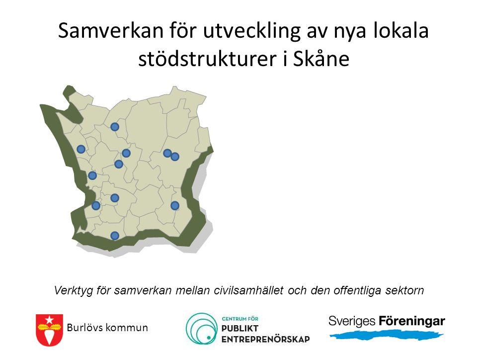 Samverkan för utveckling av nya lokala stödstrukturer i Skåne Burlövs kommun Verktyg för samverkan mellan civilsamhället och den offentliga sektorn