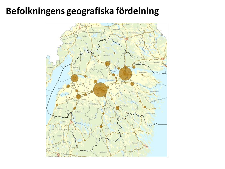 Befolkningens geografiska fördelning