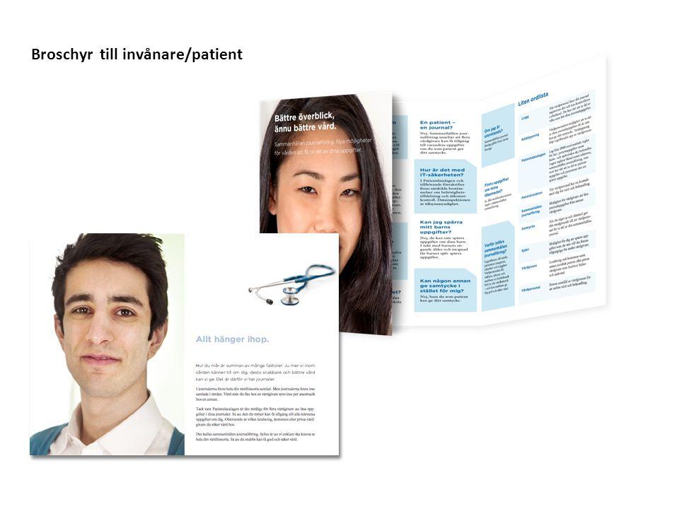 Broschyr tresidor fram- och baksida med trygghetskort till invånare/patient Alternativ framsida