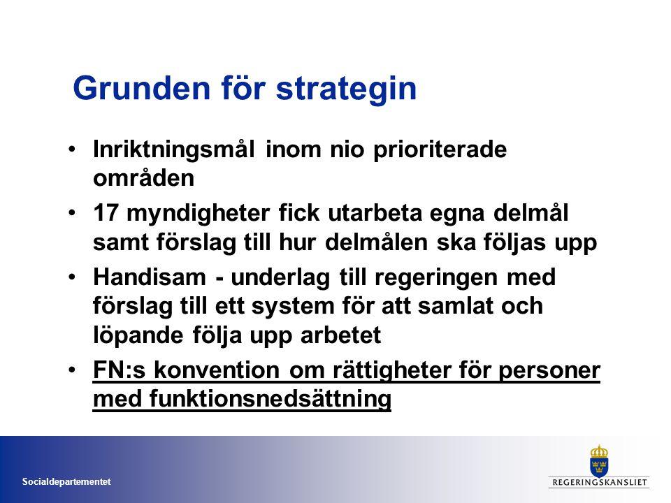 Socialdepartementet FN:s konvention om mänskliga rättigheter för personer med funktionsnedsättning Svenska rapporten