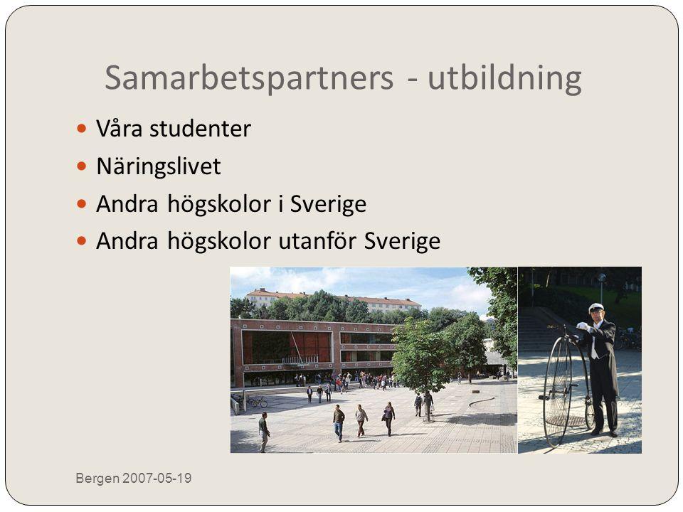 För att  Ta vara på olika personers/gruppers erfarenheter och specialiteter  Tillsammans når vi längre  Öka verklighetsanpassningen  Höja kompetensen  Bygga nätverk Bergen 2007-05-19 => Öka möjligheterna Det personliga mötet