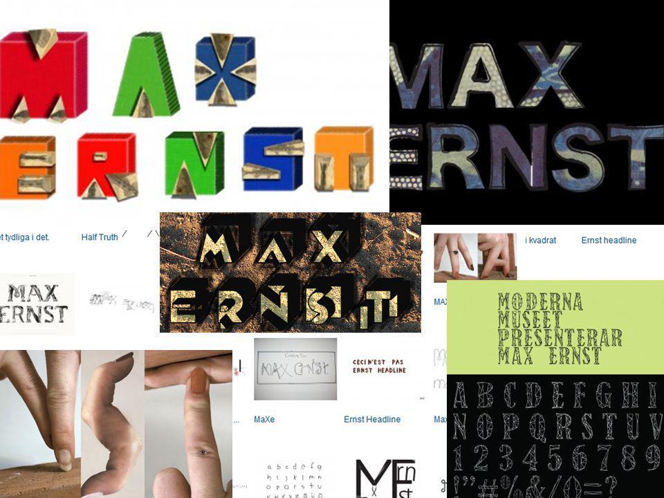 Moderna Museet Reslutatet: •111 varianter 37 typsnitt