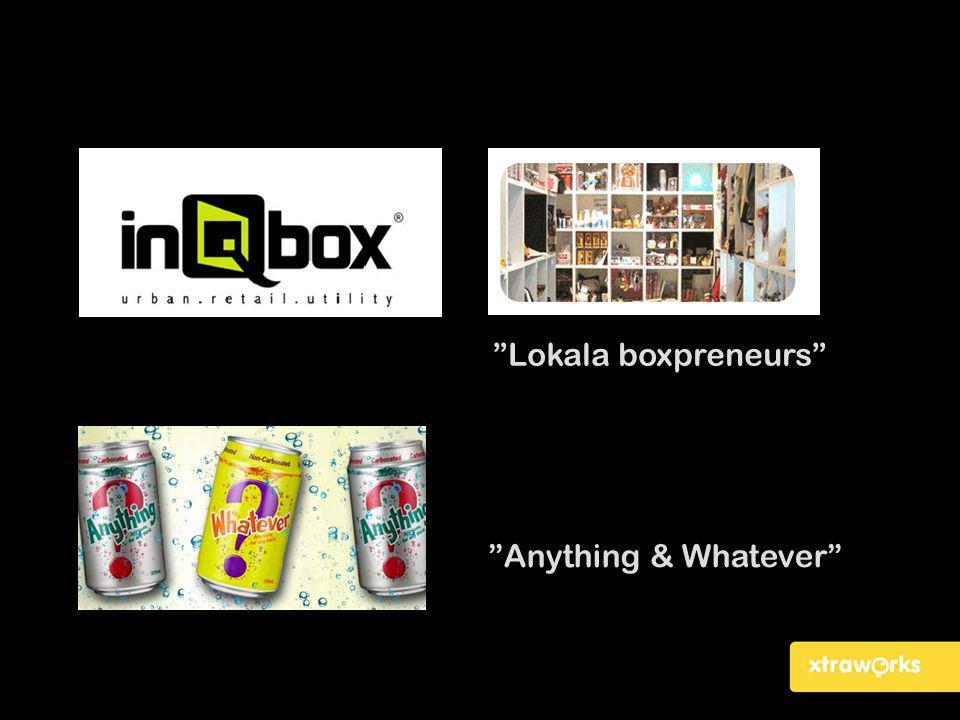 """Anything & Whatever"" ""Lokala boxpreneurs"""
