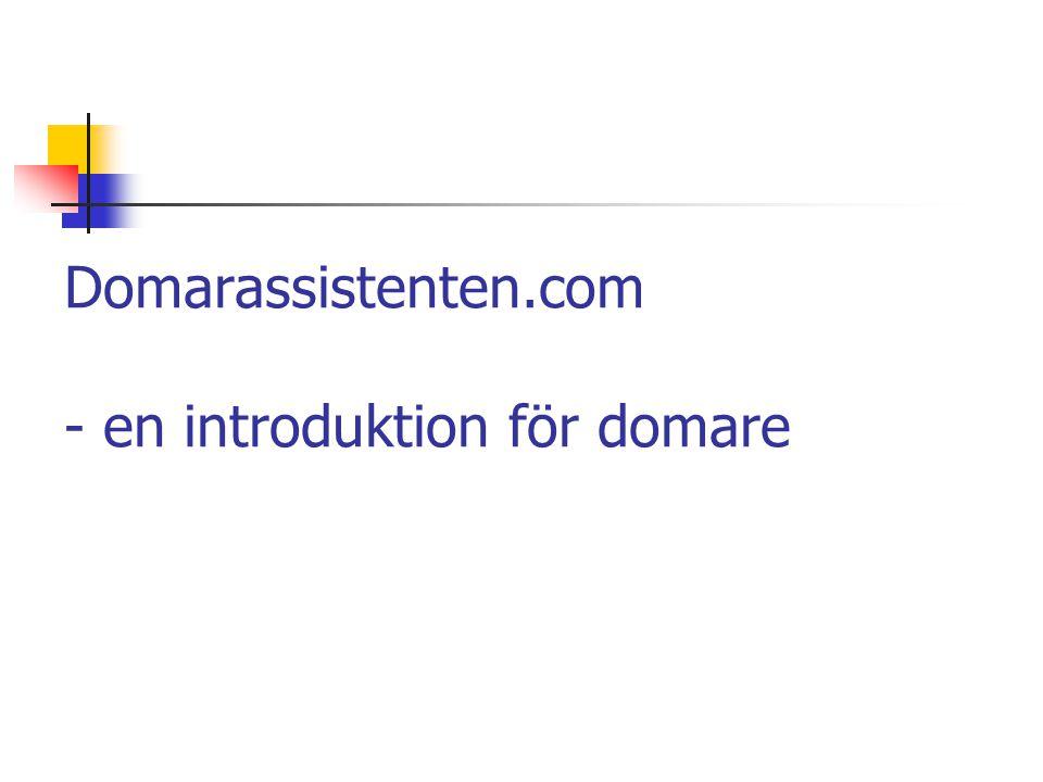 Domarassistenten.com - en introduktion för domare