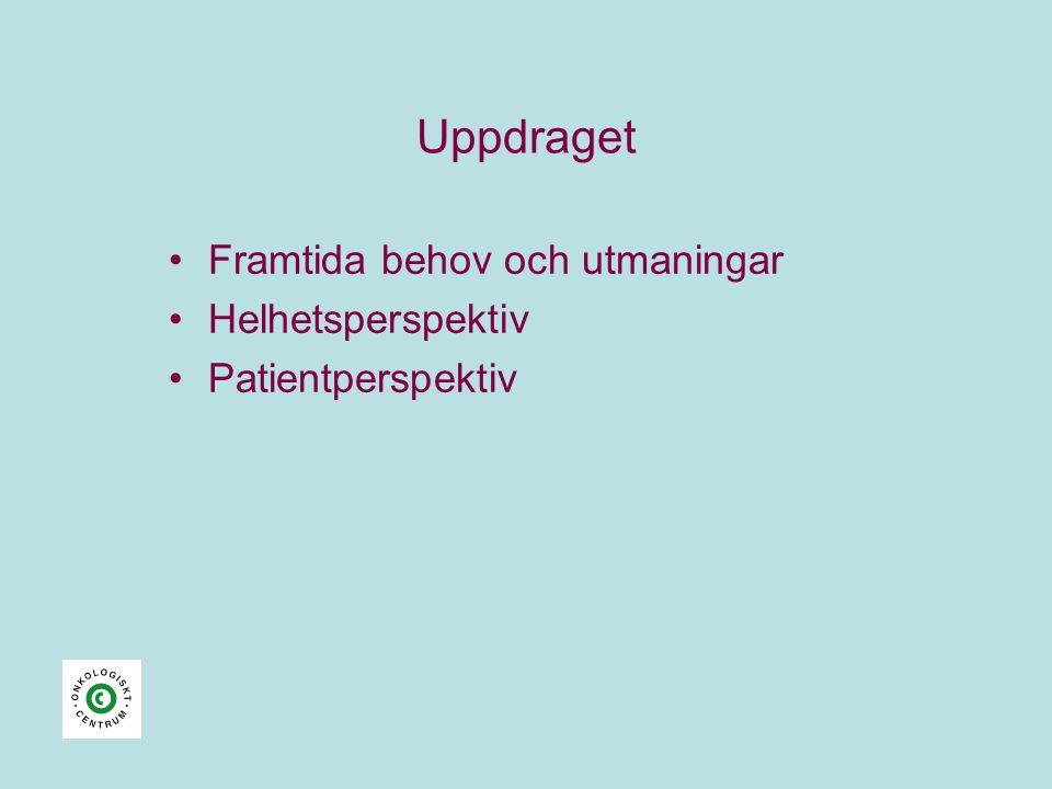 Uppdraget •Framtida behov och utmaningar •Helhetsperspektiv •Patientperspektiv