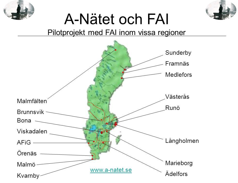 Bona Viskadalen AFiG Örenäs Malmö Kvarnby Sunderby Framnäs Medlefors Västerås Runö Långholmen Marieborg Ädelfors Malmfälten Brunnsvik www.a-natet.se A