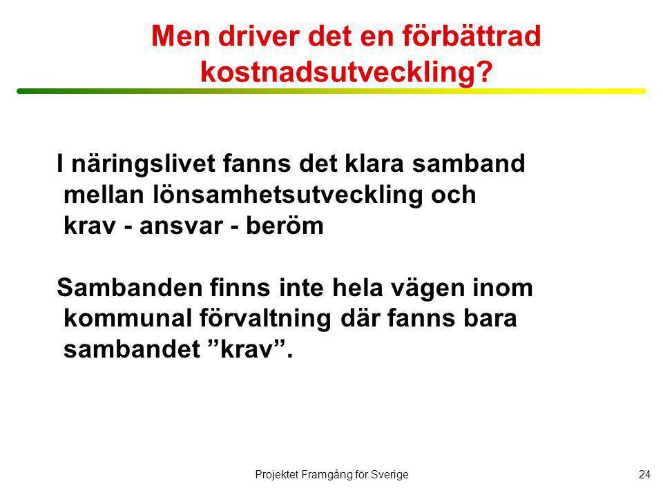 Projektet Framgång för Sverige25 Vad har de som lyckats speciellt bra.