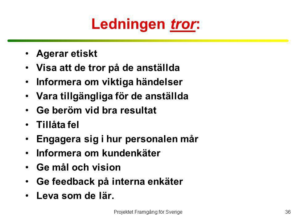 Projektet Framgång för Sverige37 Därför gör inte chefer som dom säger .