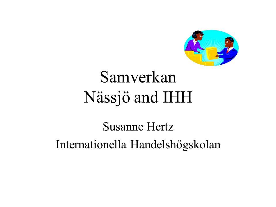Samverkan Nässjö and IHH Susanne Hertz Internationella Handelshögskolan