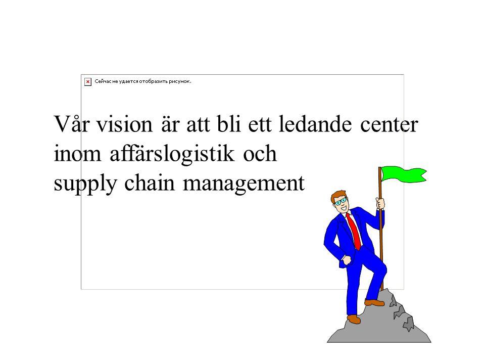 Vår vision är att bli ett ledande center inom affärslogistik och supply chain management