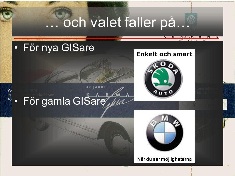 Björn Lahti Stadsbyggnadskontoret Helsingborgs stad •För nya GISare •För gamla GISare … och valet faller på… När du ser möjligheterna Enkelt och smart