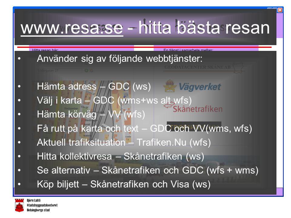 Björn Lahti Stadsbyggnadskontoret Helsingborgs stad Hur GISa kollektivt.