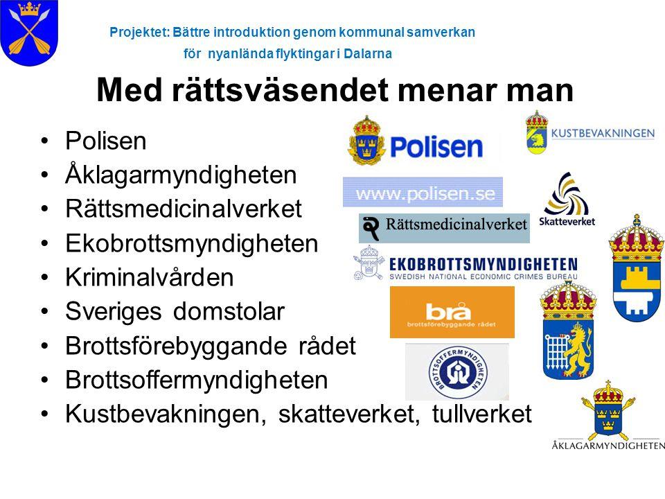 Projektet: Bättre introduktion genom kommunal samverkan för nyanlända flyktingar i Dalarna Kriminalvården •Omfattar frivård, häkte och fängelse