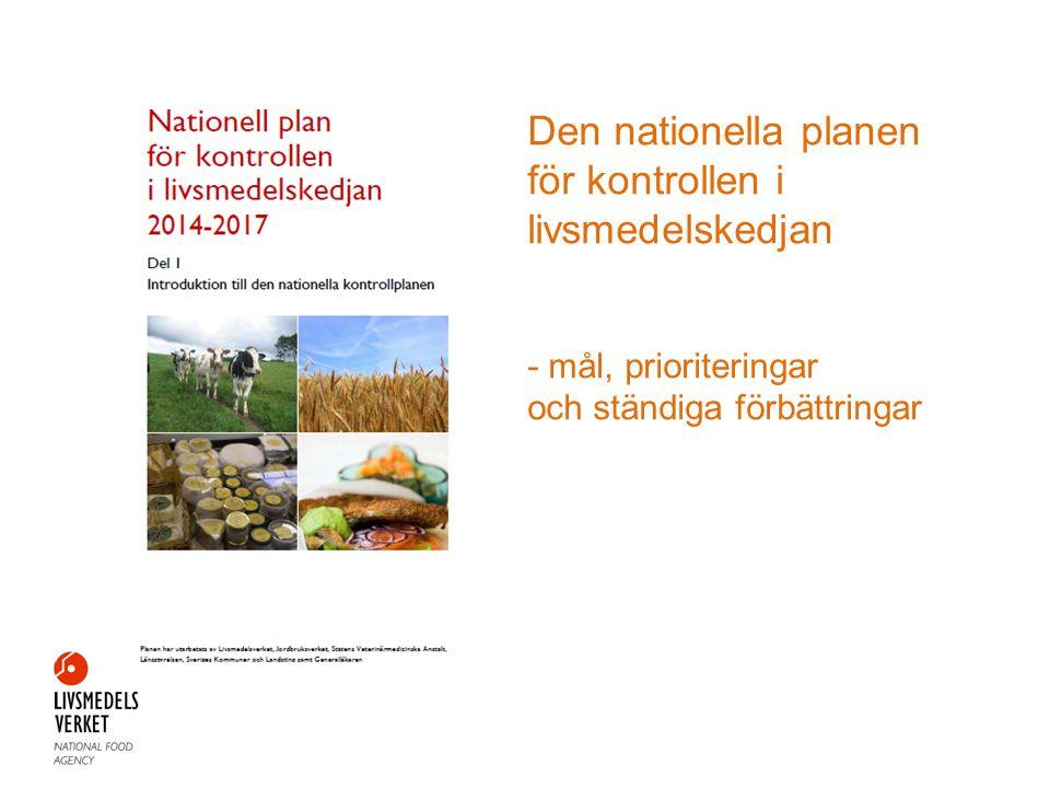 Den nationella planen för kontrollen i livsmedelskedjan - mål, prioriteringar och ständiga förbättringar