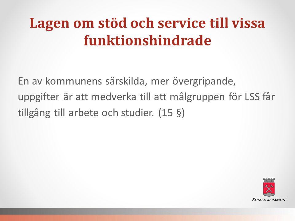 Regionala sociala välfärdsprogrammet I Örebro län ska andelen personer med funktionsnedsättning med lönearbete öka på den öppna arbetsmarknaden.