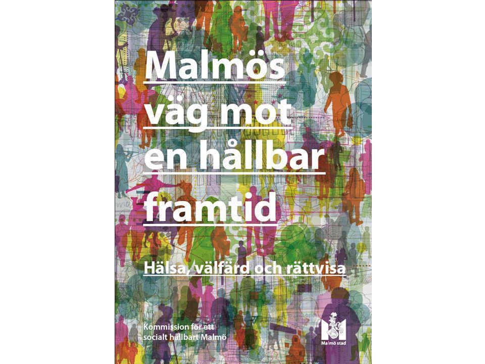 Slutrapporten Hur mår Malmö En ny förståelse för Malmö Perspektiv (6) Övergripande rekommendationer (2) Områden (6) Mål (24) Åtgärder (72)