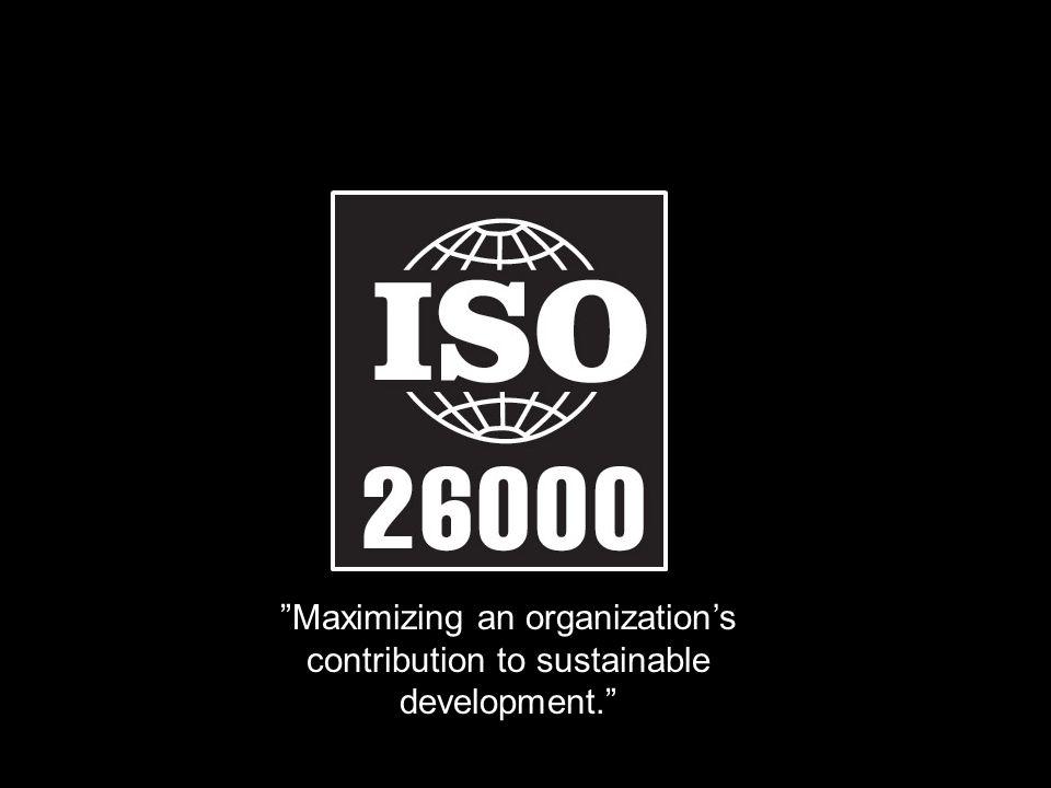 """Maximizing an organization's contribution to sustainable development."""
