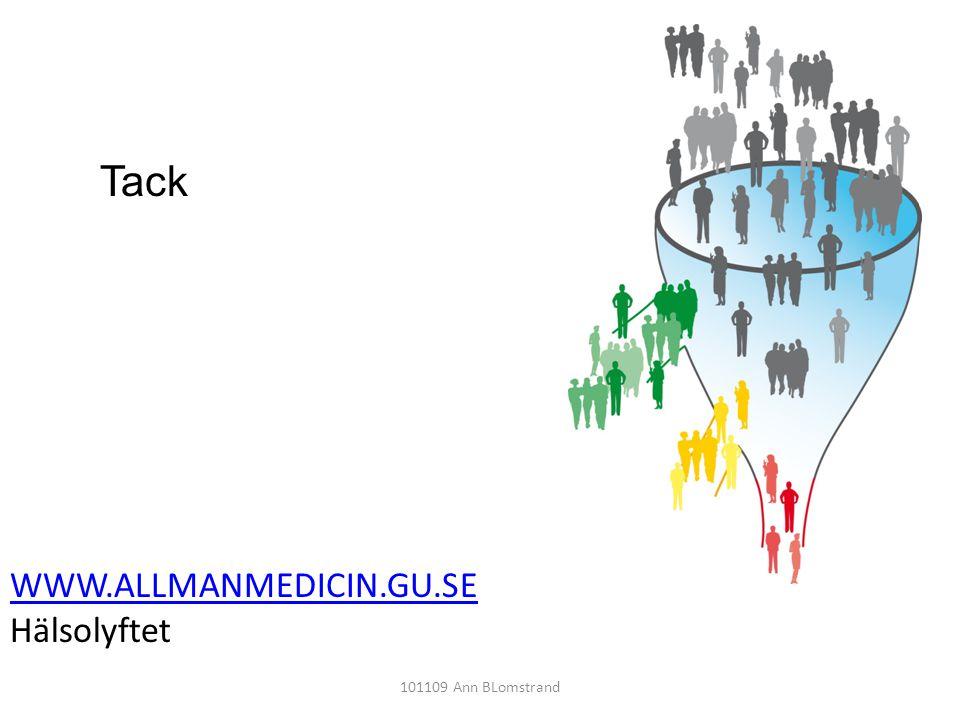 WWW.ALLMANMEDICIN.GU.SE Hälsolyftet 101109 Ann BLomstrand Tack
