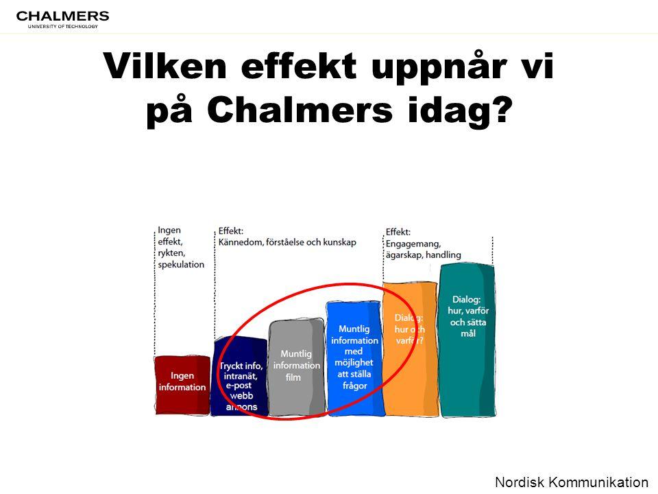 Vilken effekt uppnår vi på Chalmers idag? Nordisk Kommunikation