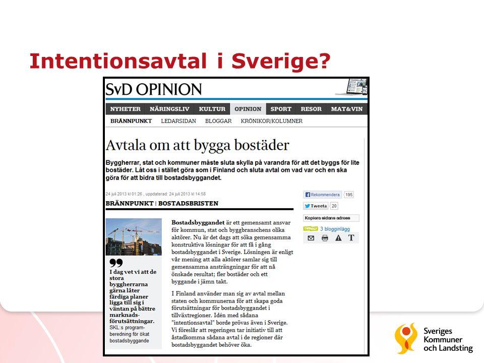 Intentionsavtal i Sverige?