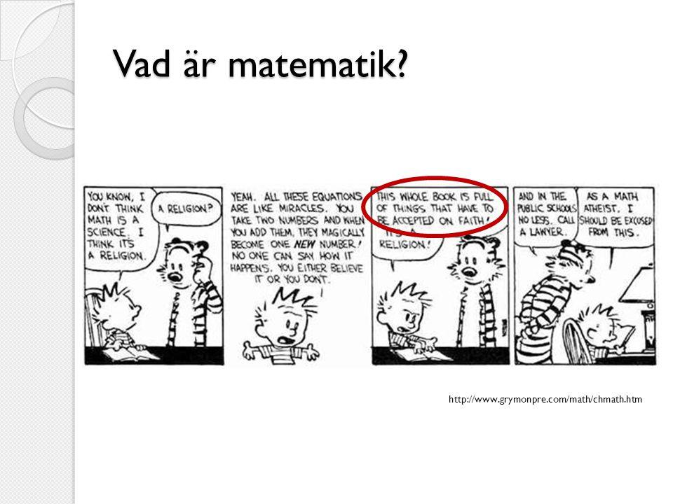 Vad är matematik? http://www.grymonpre.com/math/chmath.htm