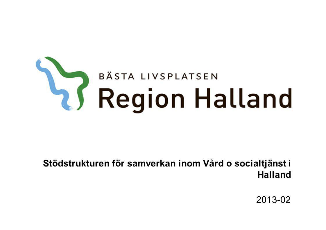 Stödstrukturen för samverkan inom Vård o socialtjänst i Halland 2013-02
