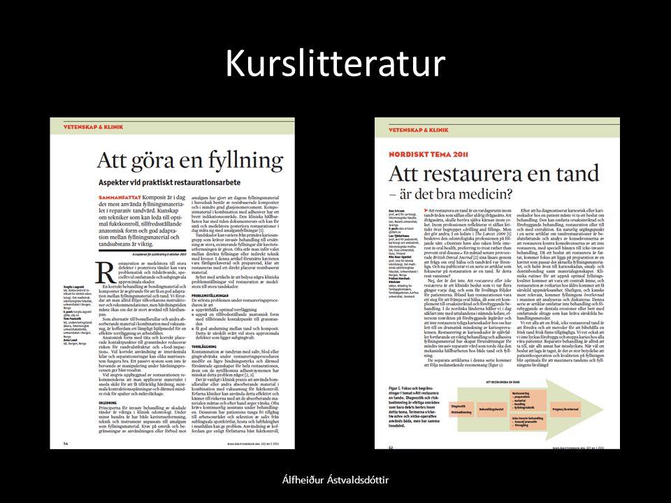 Kurslitteratur Álfheiður Ástvaldsdóttir