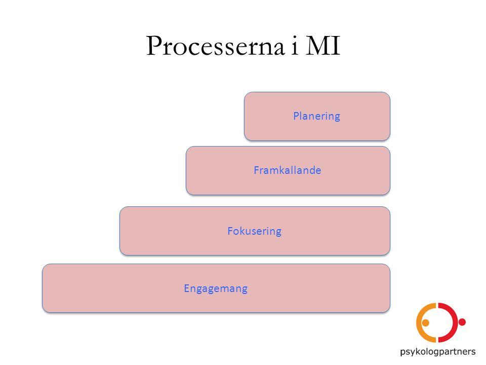 Processerna i MI Engagemang Fokusering Framkallande Planering