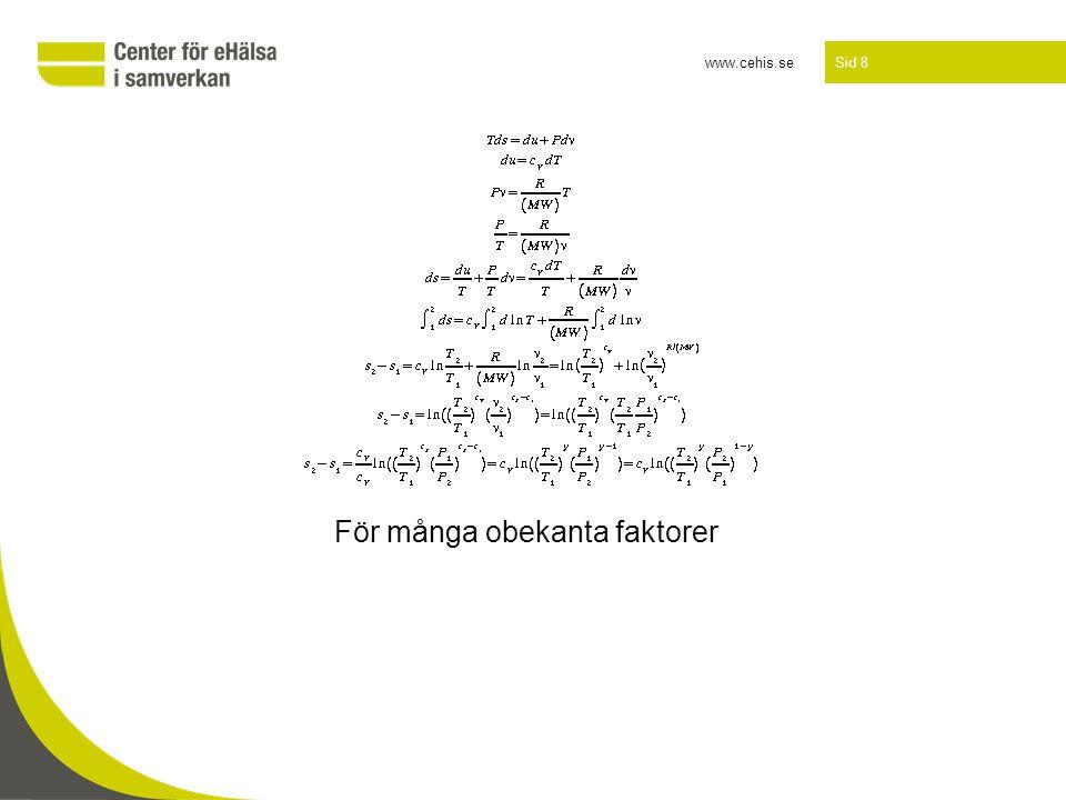 www.cehis.se Sid 8 För många obekanta faktorer