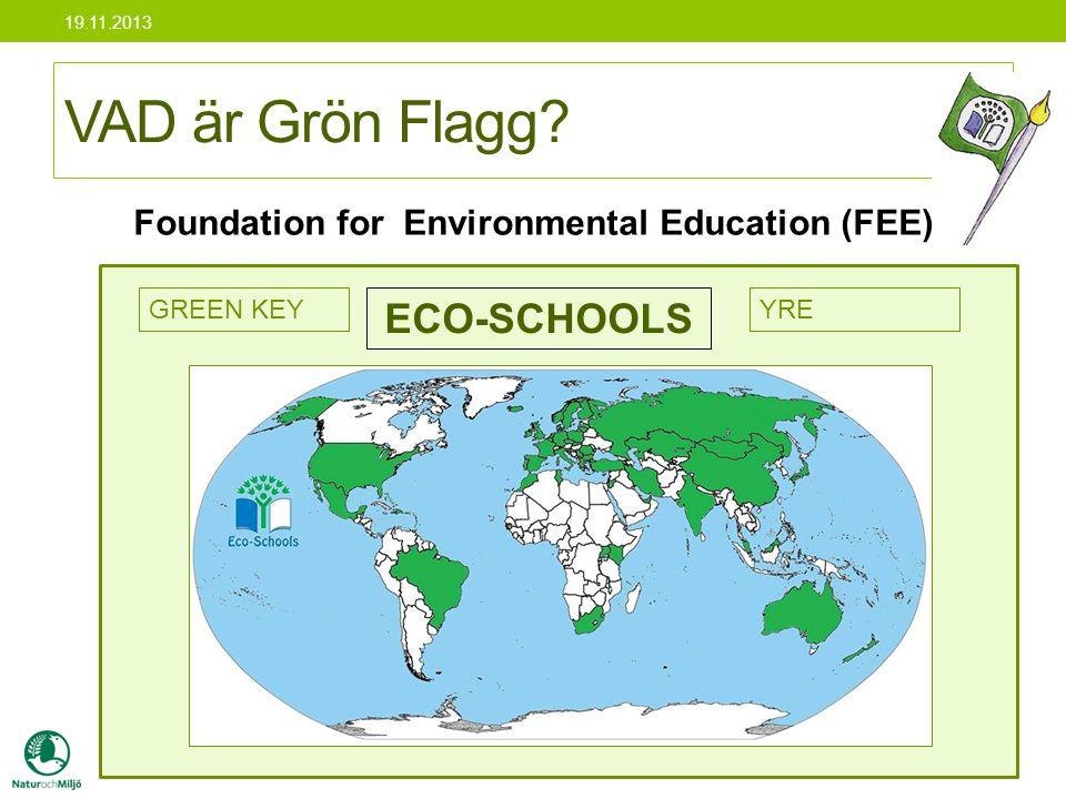 VAD är Grön Flagg? Foundation for Environmental Education (FEE). ECO-SCHOOLS GREEN KEYYRE 19.11.2013