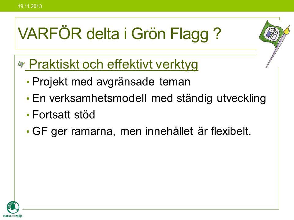 Rapport i slutet av varje GF projekt - Finns på samma blankett som planen - Förverkligades projektet enligt planen.