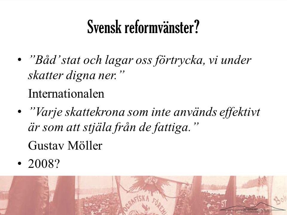 Svensk reformvänster.