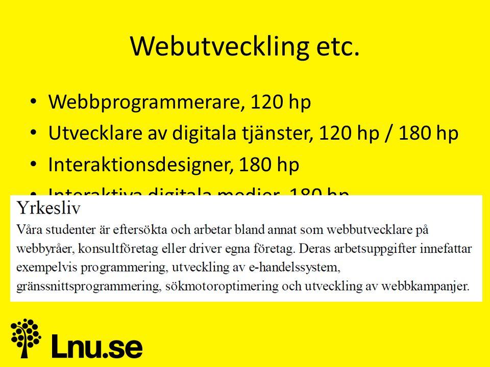 Webutveckling etc.