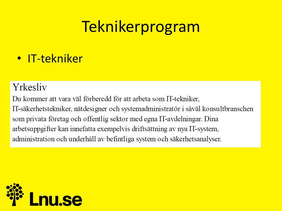 Teknikerprogram • IT-tekniker