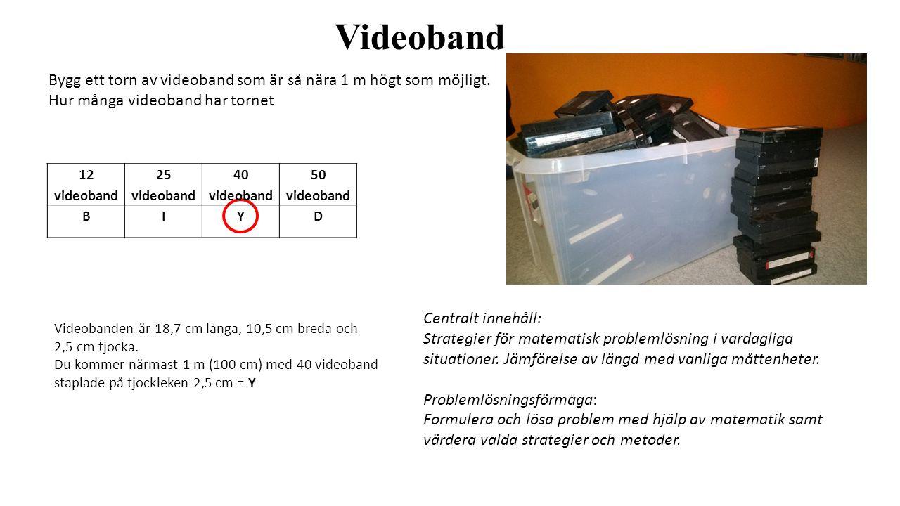 Videoband Bygg ett torn av videoband som är så nära 1 m högt som möjligt.