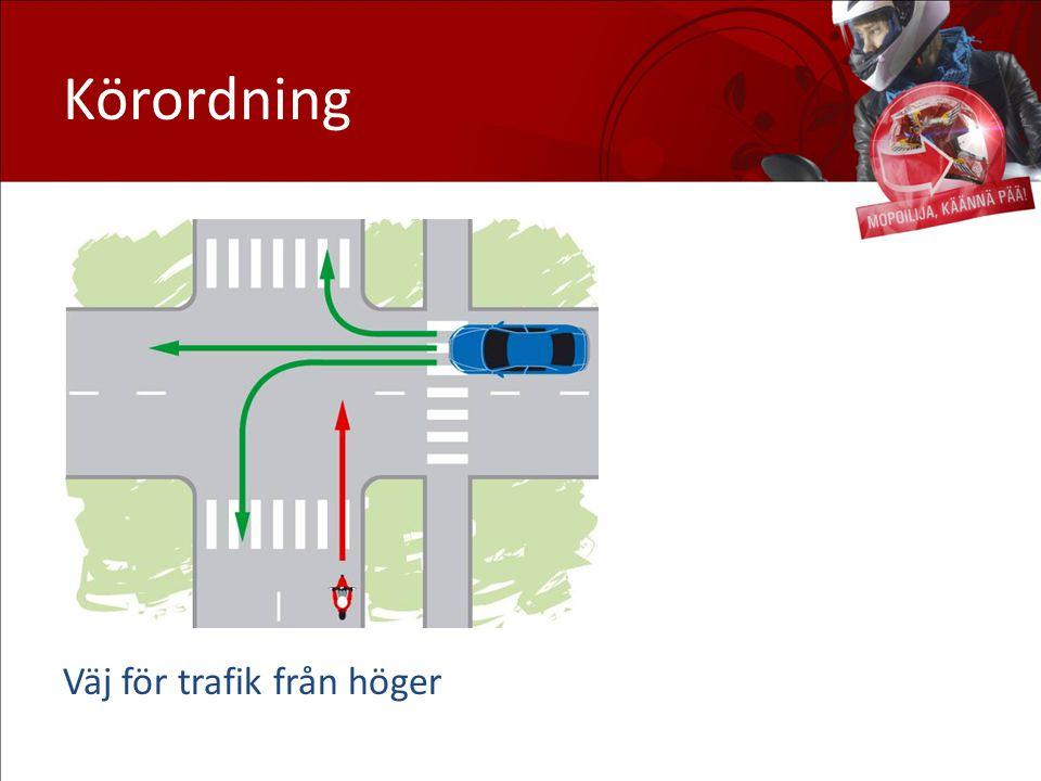 Körordning Väj för trafik från höger