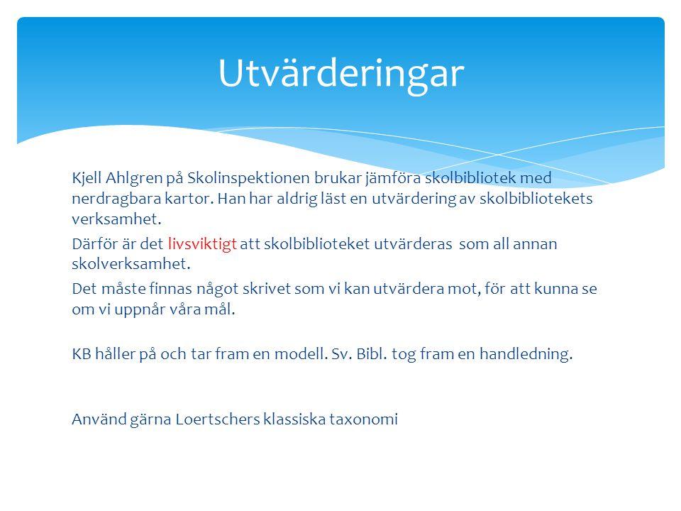 Kjell Ahlgren på Skolinspektionen brukar jämföra skolbibliotek med nerdragbara kartor. Han har aldrig läst en utvärdering av skolbibliotekets verksamh