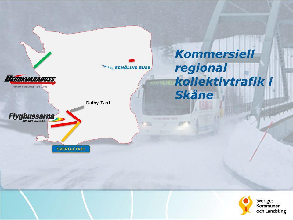 SVERIGETAXI Dalby Taxi Kommersiell regional kollektivtrafik i Skåne